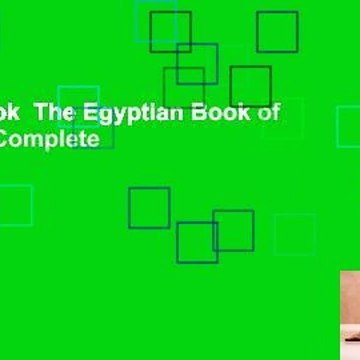 Full E-book  The Egyptian Book of the Dead Complete