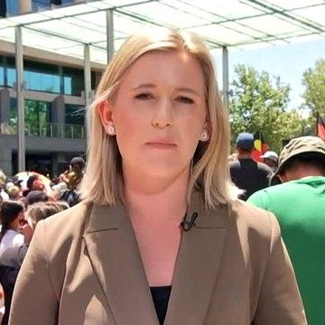 Demonstration getting underway in the Perth CBD