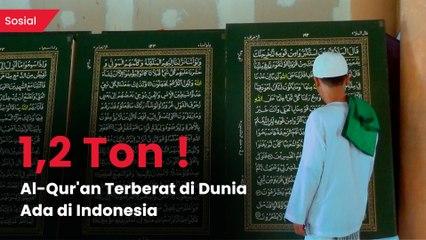 Pondok Pesantren di Bogor Menyimpan Al-Qu'ran Raksasa dari Pelepah Pisang dan Lempengan Baja