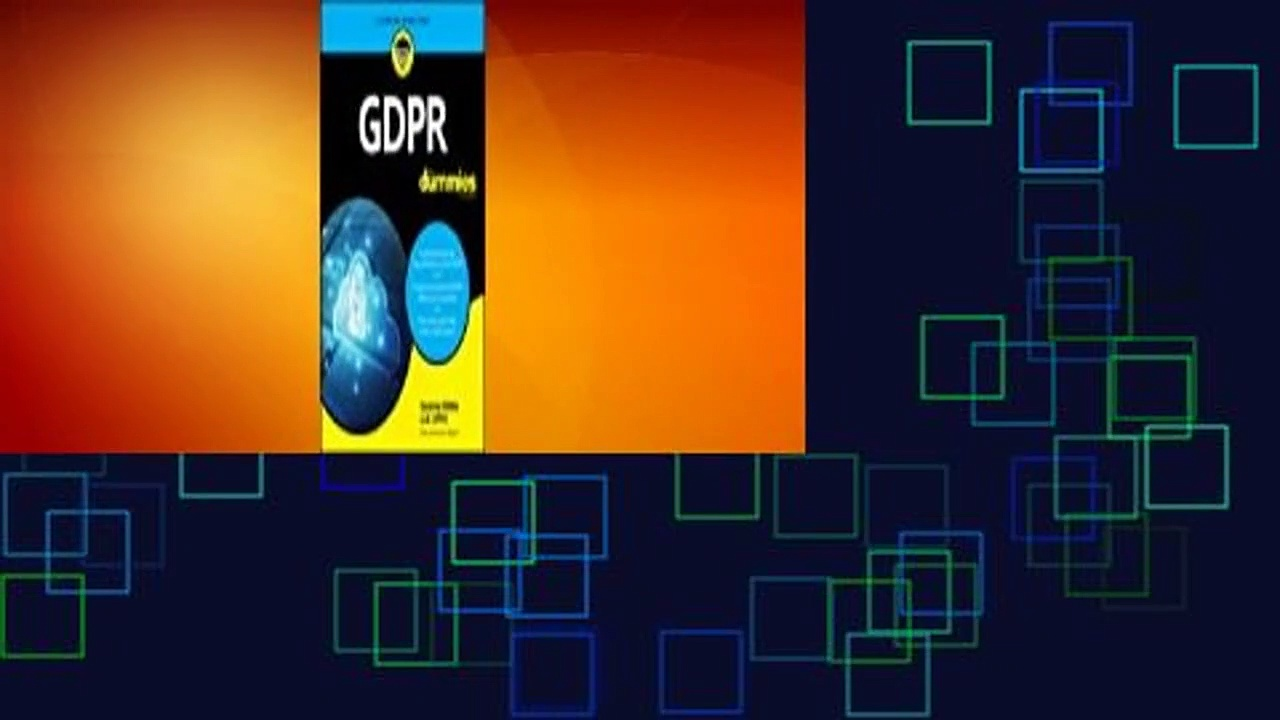 [Read] Gdpr for Dummies  For Kindle