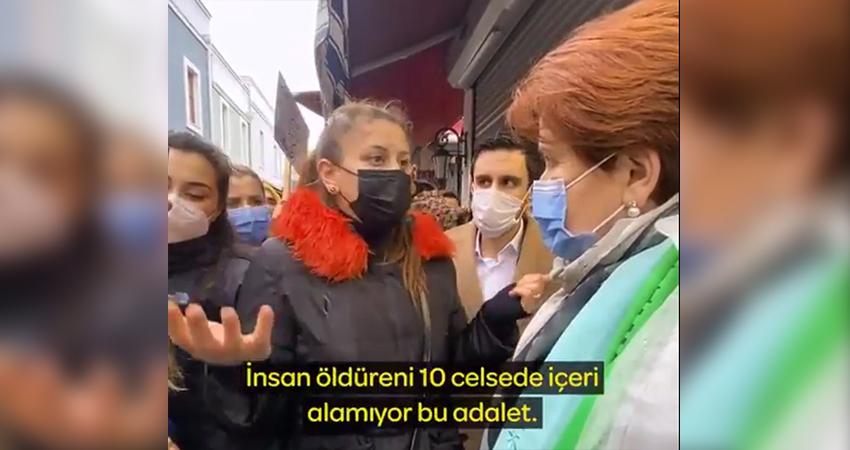 Esnaf kadın Akşener'e anlattı: 10 aydır sadece bin TL alabildim, yakınlarımın yardımıyla yaşıyorum