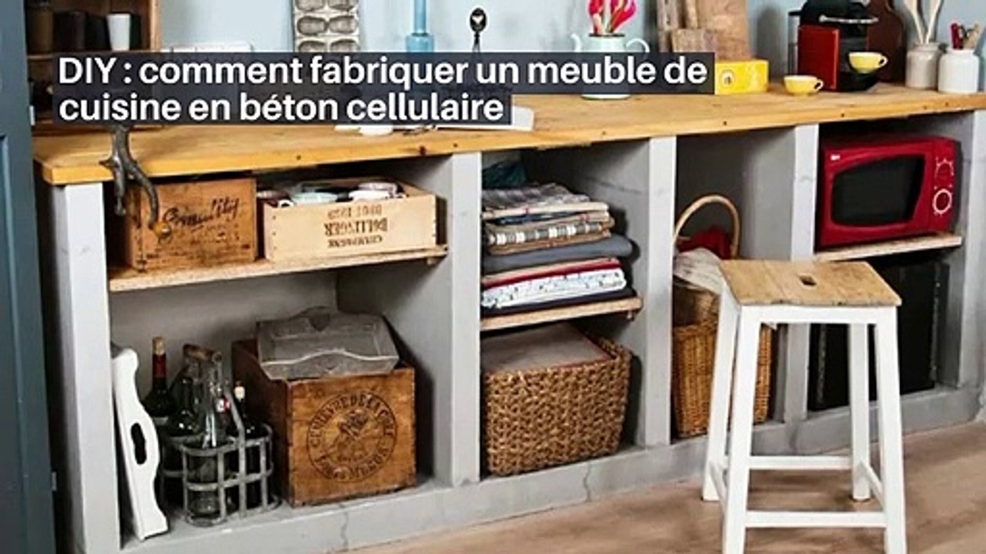diy comment fabriquer un meuble de cuisine en beton cellulaire in