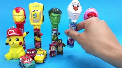 Lollipop POP UP Marvel Iron Man Hulk Disney Cars Olaf Surprise Toys