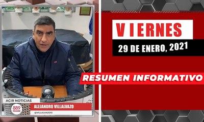 Resumen de noticias viernes 29 de enero 2021 / Panorama Informativo / 88.9 Noticias
