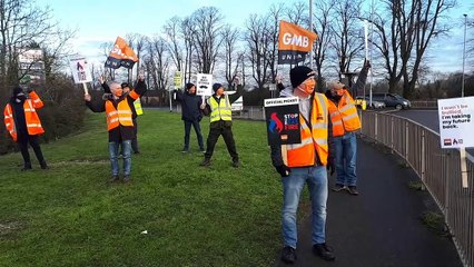 GMB picket Wellingborough