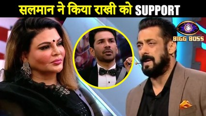 Salman Khan Supports Rakhi Sawant's Action, Abhinav Shukla Gets Irked |  Bigg Boss 14