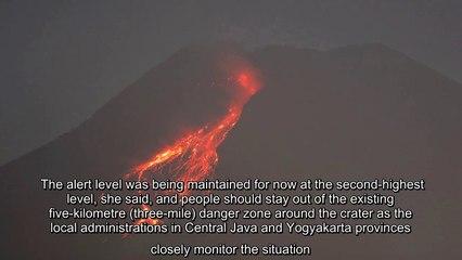✅ Authorities raised the volatile volcano's danger level in November.