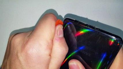 Samsung A51 -Substituição e trocar tela lcd display. Desmontagem e Montagem corretas.