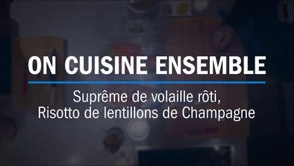 Recette : suprême de volaille et lentillons de Champagne