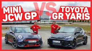 VÍDEO: TOYOTA GR YARIS vs MINI JCW GP, los enfrentamos ¡en circuito!