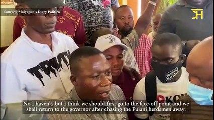 Sunday Igboho Arrives Ogun State To Confront Herdsmen In Yewaland