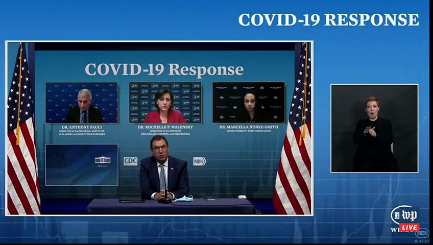 WATCH- White House covid-19 response team holds news conference