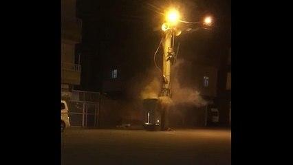 Nusaybin'de elektrik trafosu patladı