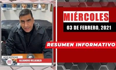 Resumen de noticias miércoles 3 de febrero 2021 / Panorama Informativo / 88.9 Noticias
