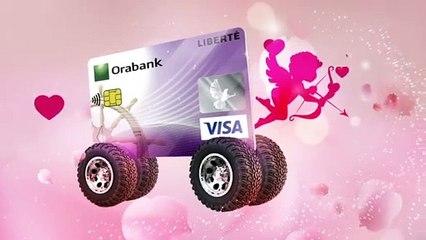 Célébrez la Saint Valentin avec la Carte Visa Liberté d'Orabank