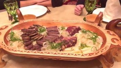 Horse meat, a delicacy on the Kazakh table