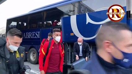 La partenza della Roma per Torino (5/2/2021)