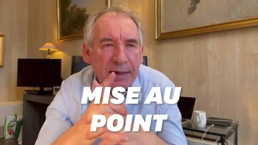 François Bayrou se défend après ses propos sur la classe moyenne à 4.000 euros
