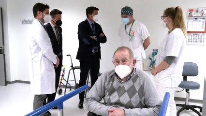 Marín visita las nuevas instalaciones del Hospital San Cecilio de Granada