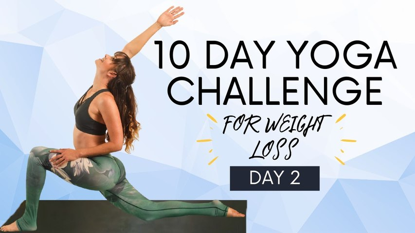 Advanced Yoga for Weight Loss, Burn Fat  Lose Weight (Day 2) 10 Day Yoga Challenge