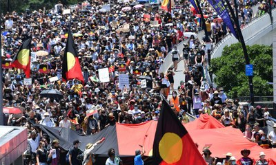 Thousands gather for Invasion Day rallies across Australia