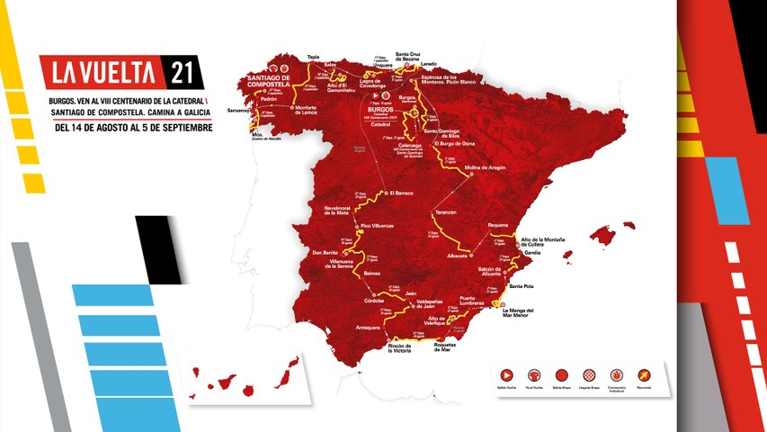 La Vuelta 20  Recorrido oficial (Official Route)