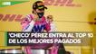 'Checo' Pérez, entre los pilotos mejor pagados de Fórmula 1