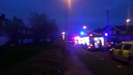 Fire on Eastmoor (filmed by Mark Vernon)