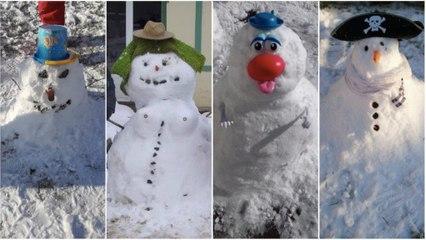 Neige en Normandie : vos plus beaux bonhommes de neige