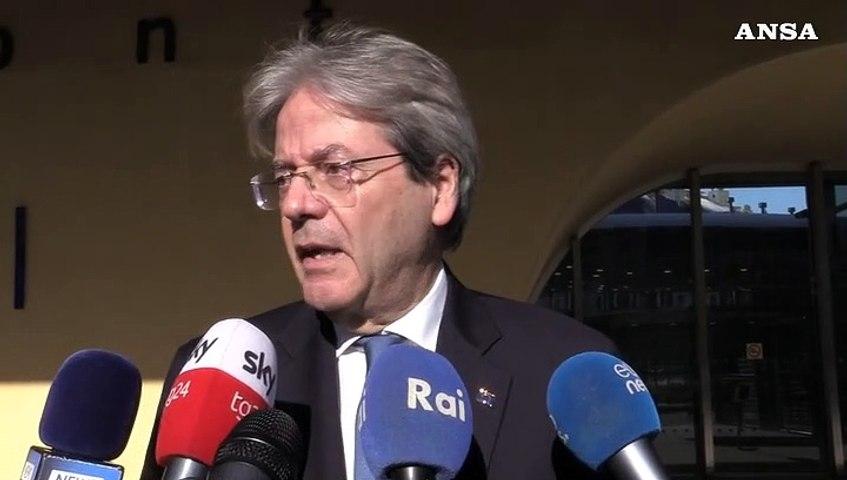"""Gentiloni: """"In Italia come a Bruxelles fiducia in Draghi"""""""