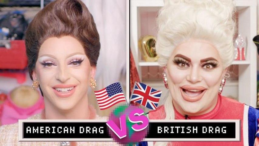 Drag Queens Miz Cracker & Baga Chipz Compare American & British Drag   The World's Our Stage