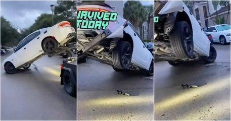 Destrói Dodge Charger ao tentar evitar que fosse rebocado