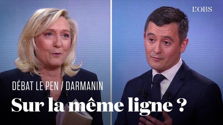 Toutes les fois où Gérald Darmanin et Marine Le Pen ont semblé proches pendant leur débat