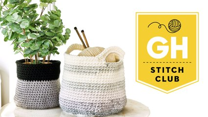 How To Make a DIY Crochet Basket   Stitch Club