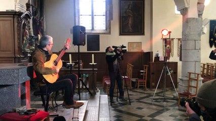 Concert de Quentin Dujardin à l'Église de Crupet le 14 février 2021