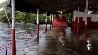 Imagens mostram Rio Turbina transbordando após chuva de 168 mm cair em Coremas