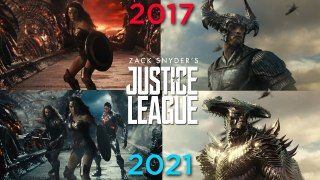 JUSTICE LEAGUE: Snyder Cut VS Whedon Cut Trailer Comparison (2021)