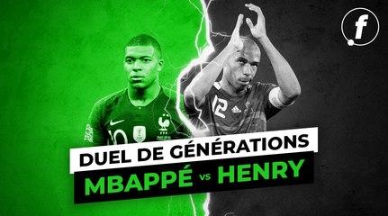 Duel de générations : Kylian Mbappé  vs Thierry Henry