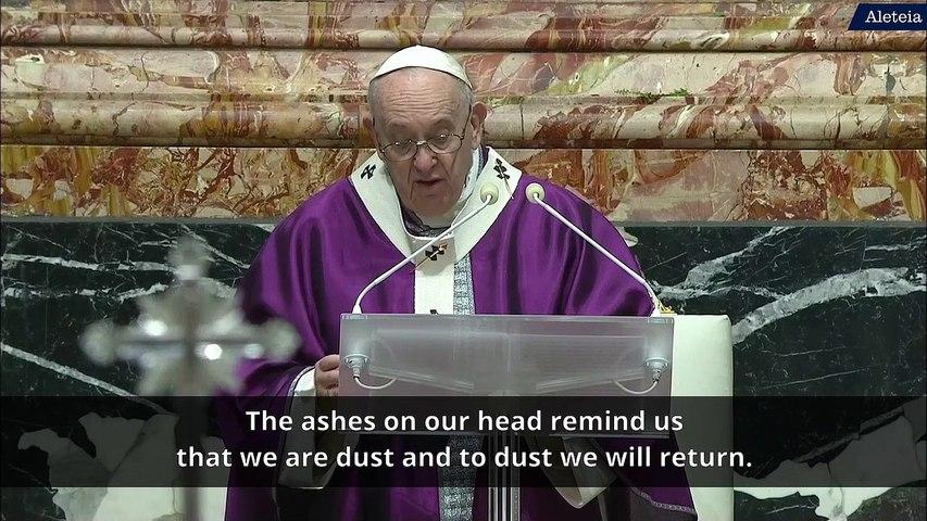 Pope celebrates Ash Wednesday Liturgy