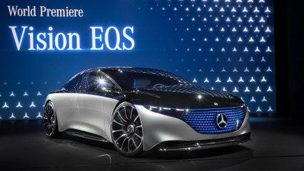 Mercedes-Benz Vision EQS, EQV at IAA Frankfurt 2019