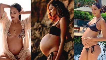 इस Actress ने BIKNI में Flaunt किया Hot Baby Bump | Actress HOT BIKNI Baby Bump VIRAL | Boldsky