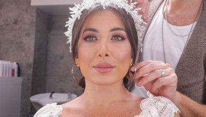 تسريحة شعر ملكية لعروس بأنامل ميشال ليون