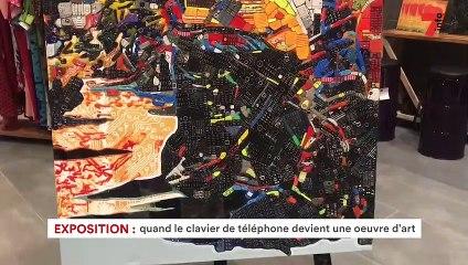 Exposition: quand le clavier de téléphone devient une œuvre d'art