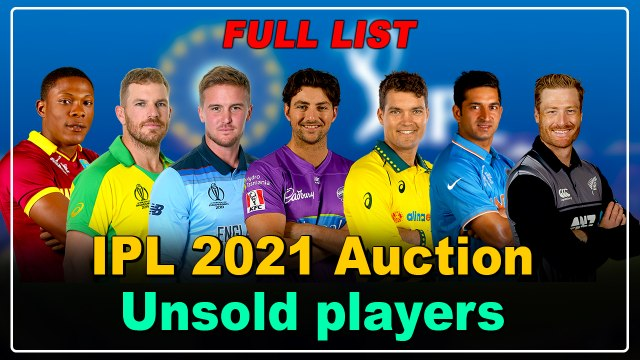 IPL 2021 Auction: Unsold players Complete List | OneIndia Tamil