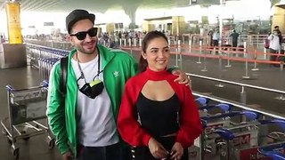 Ex Bigg Boss 14 contestants Aly Goni and Jasmin Bhasin spotted at airport