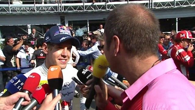 Sebastian Vettel - Interview nach Sieg in Monza 2011