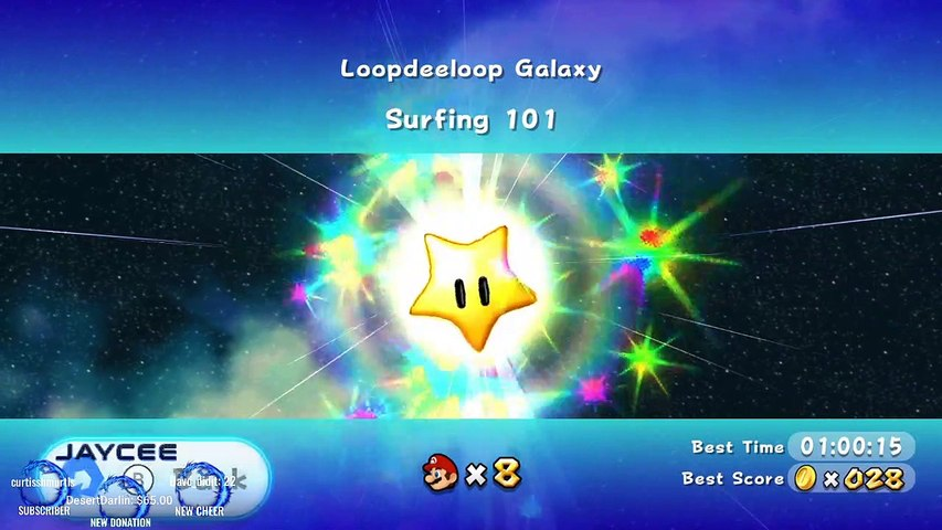 Super Mario Galaxy  Loopdeeloop Galaxy ~ Surfing 101  in under 1 minute