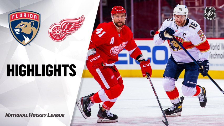 Panthers @ Red Wings 2/19/21 | NHL Highlights