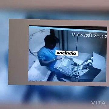 பணம் வரவில்லை.. ஏடிஎம் உடன் சண்டை போட்ட கொள்ளையன் - வீடியோ