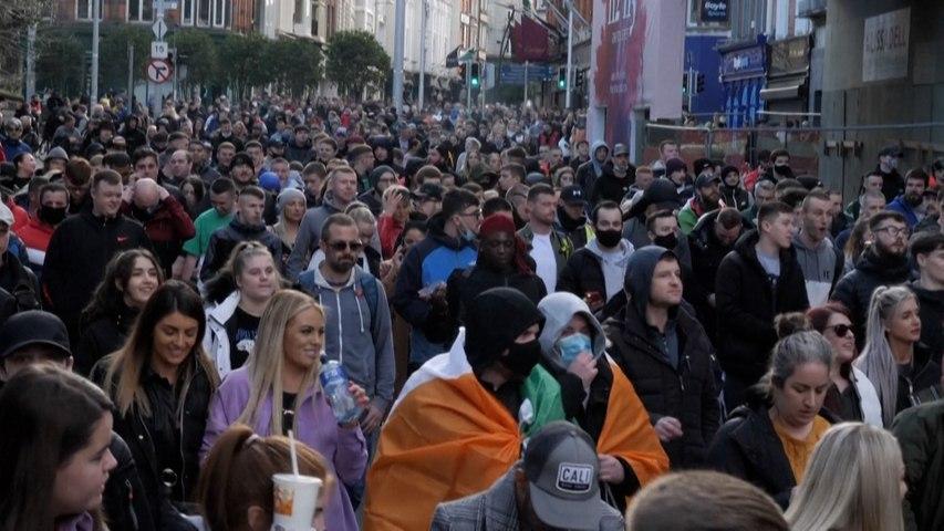 Covid-19 : d'Irlande au Brésil... un week-end de manifestation contre les restrictions sanitaires